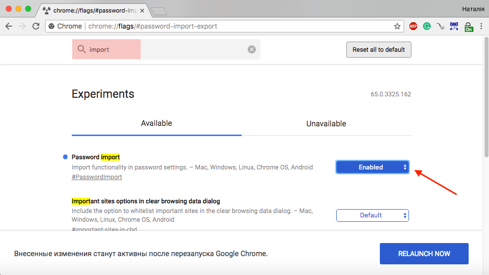 How to export and import stored passwords to Google Chrome